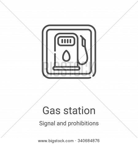 gas station icon isolated on white background from signal and prohibitions collection. gas station i
