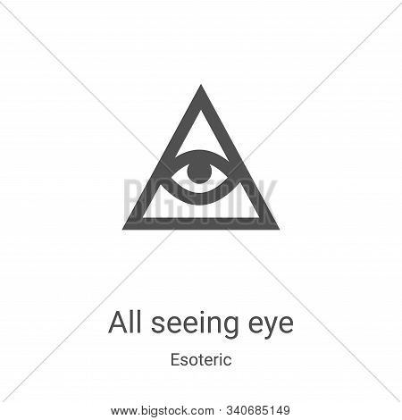 all seeing eye icon isolated on white background from esoteric collection. all seeing eye icon trend