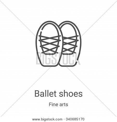 ballet shoes icon isolated on white background from fine arts collection. ballet shoes icon trendy a