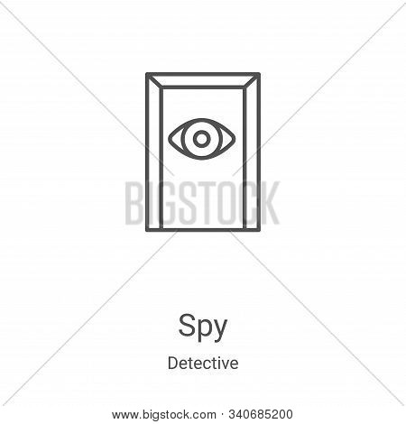 spy icon isolated on white background from detective collection. spy icon trendy and modern spy symb