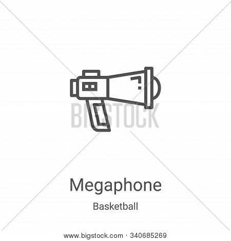 megaphone icon isolated on white background from basketball collection. megaphone icon trendy and mo