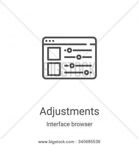 adjustments icon isolated on white background from interface browser collection. adjustments icon tr