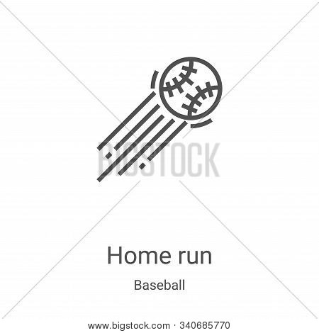 home run icon isolated on white background from baseball collection. home run icon trendy and modern