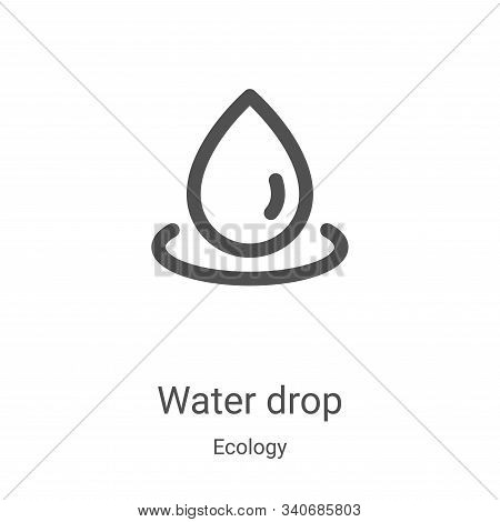 water drop icon isolated on white background from ecology collection. water drop icon trendy and mod