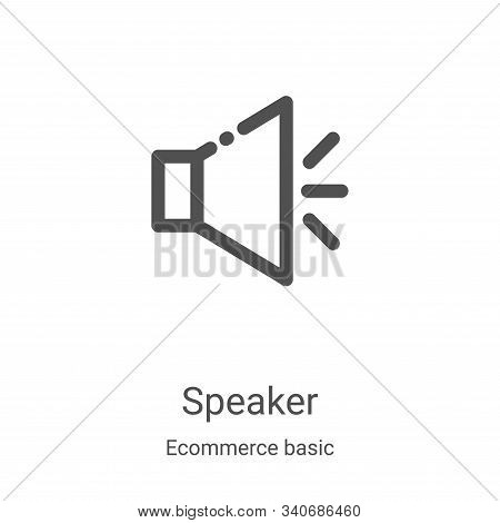 speaker icon isolated on white background from ecommerce basic collection. speaker icon trendy and m