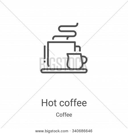 hot coffee icon isolated on white background from coffee collection. hot coffee icon trendy and mode
