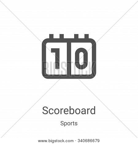 scoreboard icon isolated on white background from sports collection. scoreboard icon trendy and mode