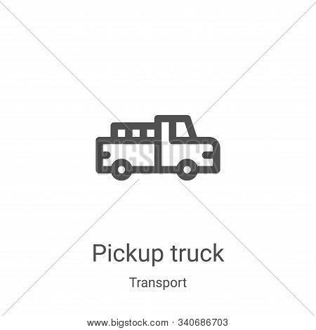 pickup truck icon isolated on white background from transport collection. pickup truck icon trendy a