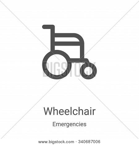 wheelchair icon isolated on white background from emergencies collection. wheelchair icon trendy and