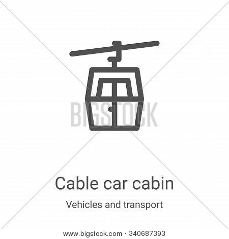 cable car cabin icon isolated on white background from vehicles and transport collection. cable car