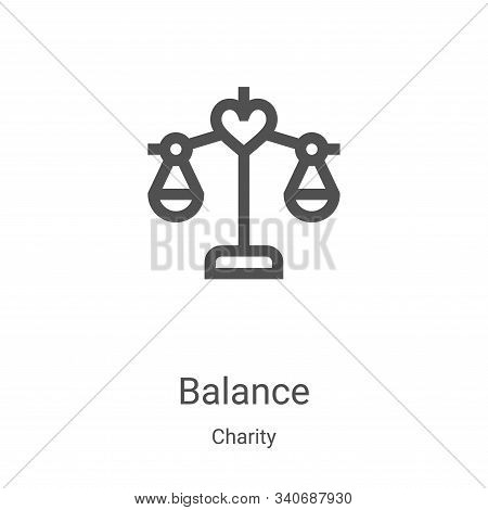 balance icon isolated on white background from charity collection. balance icon trendy and modern ba