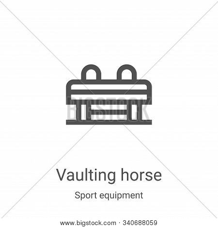 vaulting horse icon isolated on white background from sport equipment collection. vaulting horse ico