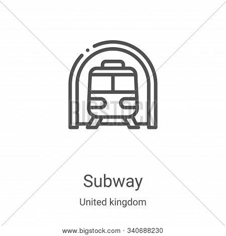 subway icon isolated on white background from united kingdom collection. subway icon trendy and mode