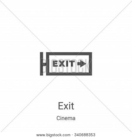 exit icon isolated on white background from cinema collection. exit icon trendy and modern exit symb
