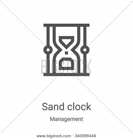 sand clock icon isolated on white background from management collection. sand clock icon trendy and