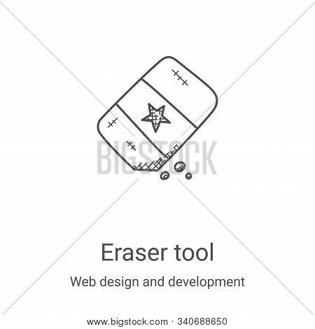 eraser tool icon isolated on white background from web design and development collection. eraser too