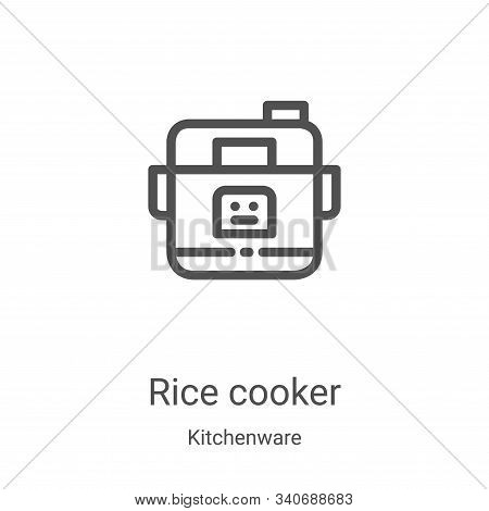 rice cooker icon isolated on white background from kitchenware collection. rice cooker icon trendy a