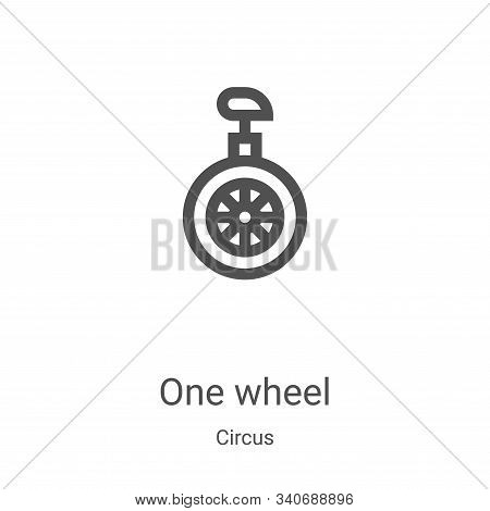 one wheel icon isolated on white background from circus collection. one wheel icon trendy and modern