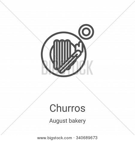 churros icon isolated on white background from august bakery collection. churros icon trendy and mod