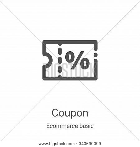 coupon icon isolated on white background from ecommerce basic collection. coupon icon trendy and mod