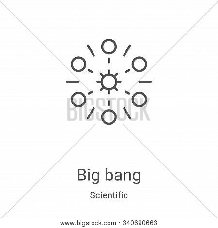 big bang icon isolated on white background from scientific collection. big bang icon trendy and mode