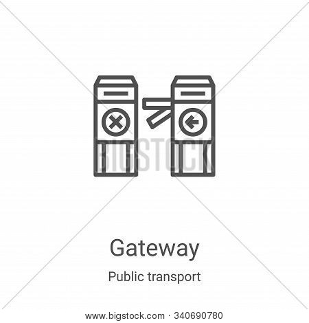 gateway icon isolated on white background from public transport collection. gateway icon trendy and