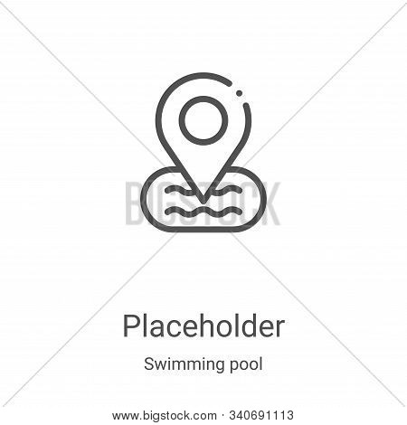 placeholder icon isolated on white background from swimming pool collection. placeholder icon trendy