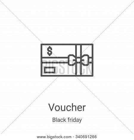 voucher icon isolated on white background from black friday collection. voucher icon trendy and mode