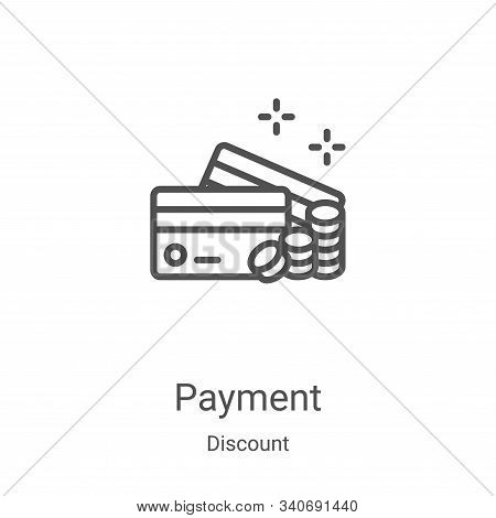 payment icon isolated on white background from discount collection. payment icon trendy and modern p