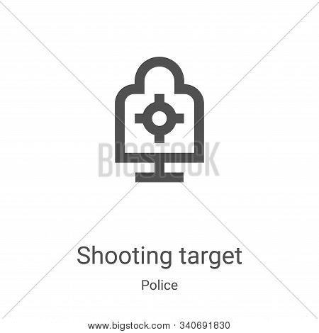 shooting target icon isolated on white background from police collection. shooting target icon trend