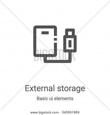 external storage icon isolated on white background from basic ui elements collection. external stora