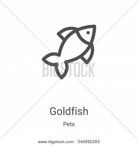 goldfish icon isolated on white background from pets collection. goldfish icon trendy and modern gol