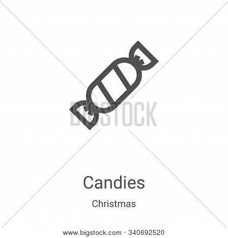 candies icon isolated on white background from christmas collection. candies icon trendy and modern