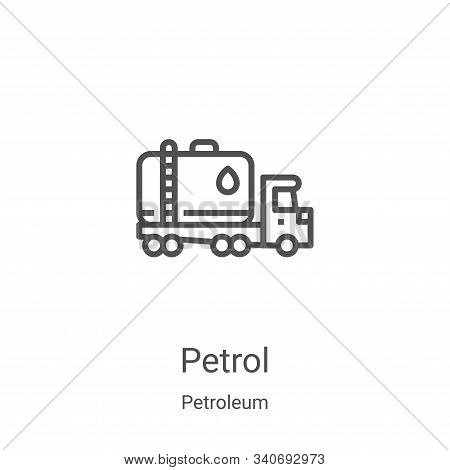 petrol icon isolated on white background from petroleum collection. petrol icon trendy and modern pe