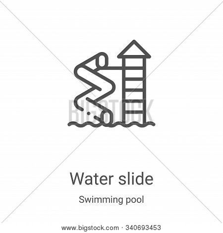 water slide icon isolated on white background from swimming pool collection. water slide icon trendy