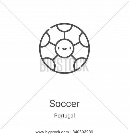 soccer icon isolated on white background from portugal collection. soccer icon trendy and modern soc