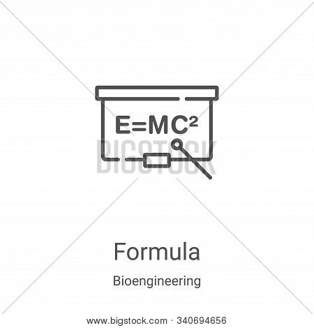 formula icon isolated on white background from bioengineering collection. formula icon trendy and mo