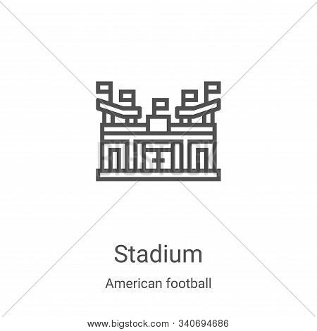 stadium icon isolated on white background from american football collection. stadium icon trendy and