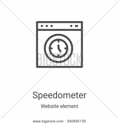 speedometer icon isolated on white background from website element collection. speedometer icon tren