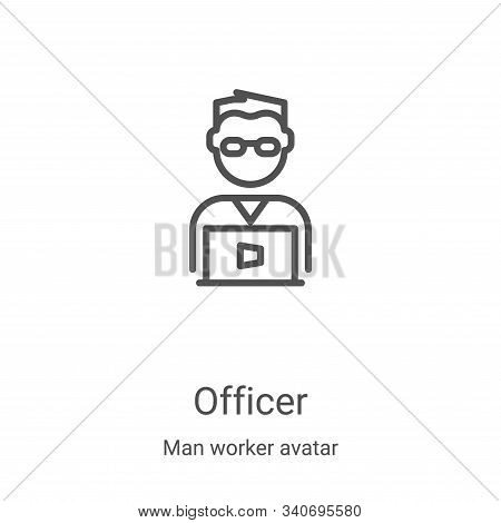 officer icon isolated on white background from man worker avatar collection. officer icon trendy and