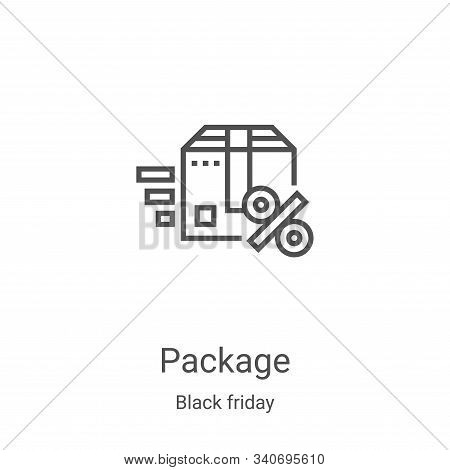 package icon isolated on white background from black friday collection. package icon trendy and mode