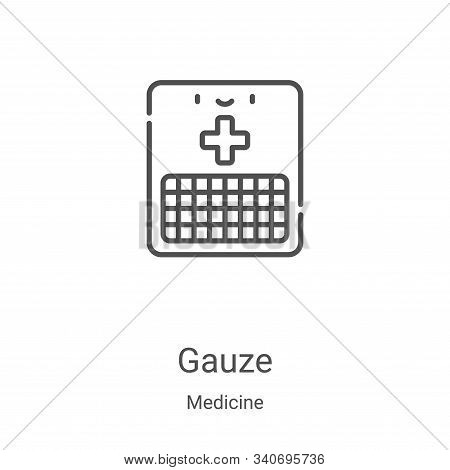 gauze icon isolated on white background from medicine collection. gauze icon trendy and modern gauze