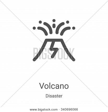 volcano icon isolated on white background from disaster collection. volcano icon trendy and modern v
