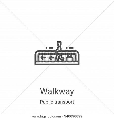 Walkway icon isolated on white background from public transport collection. Walkway icon trendy and