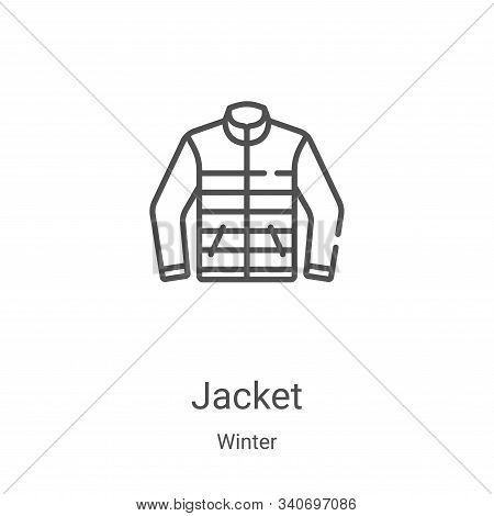 jacket icon isolated on white background from winter collection. jacket icon trendy and modern jacke