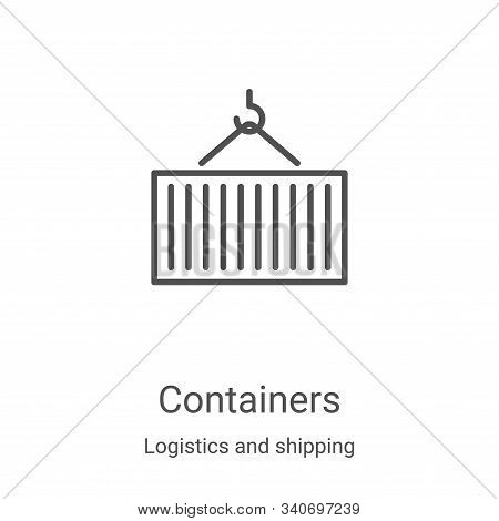 containers icon isolated on white background from logistics and shipping collection. containers icon