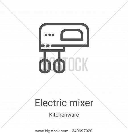electric mixer icon isolated on white background from kitchenware collection. electric mixer icon tr