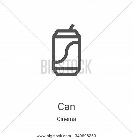 can icon isolated on white background from cinema collection. can icon trendy and modern can symbol