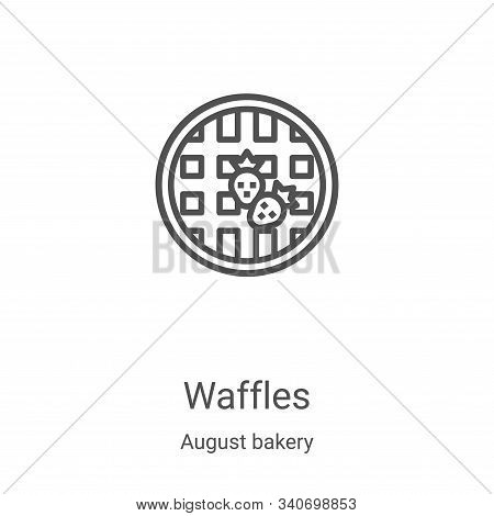 waffles icon isolated on white background from august bakery collection. waffles icon trendy and mod
