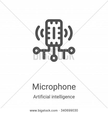 microphone icon isolated on white background from artificial intelligence collection. microphone ico